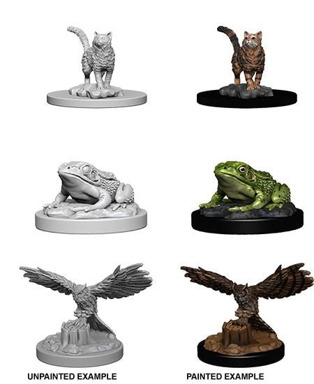 Familiars Cat, Toad, Owl - Unpainted